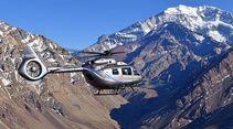 Airbus Helicopters H145 mit Fünfblattrotor auf dem 6962 Meter hohen Aconcagua