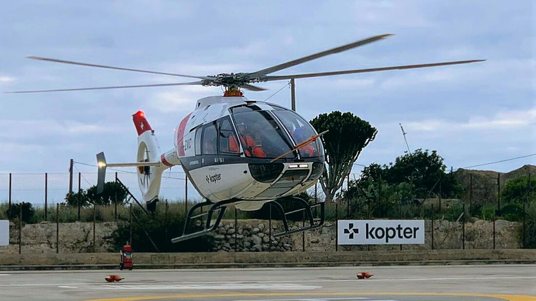 Kopter SH09 dritter Prototyp bei Tests in Sizilien.