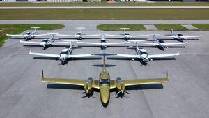 Lineup der Flotte der Aviation Academy Austria